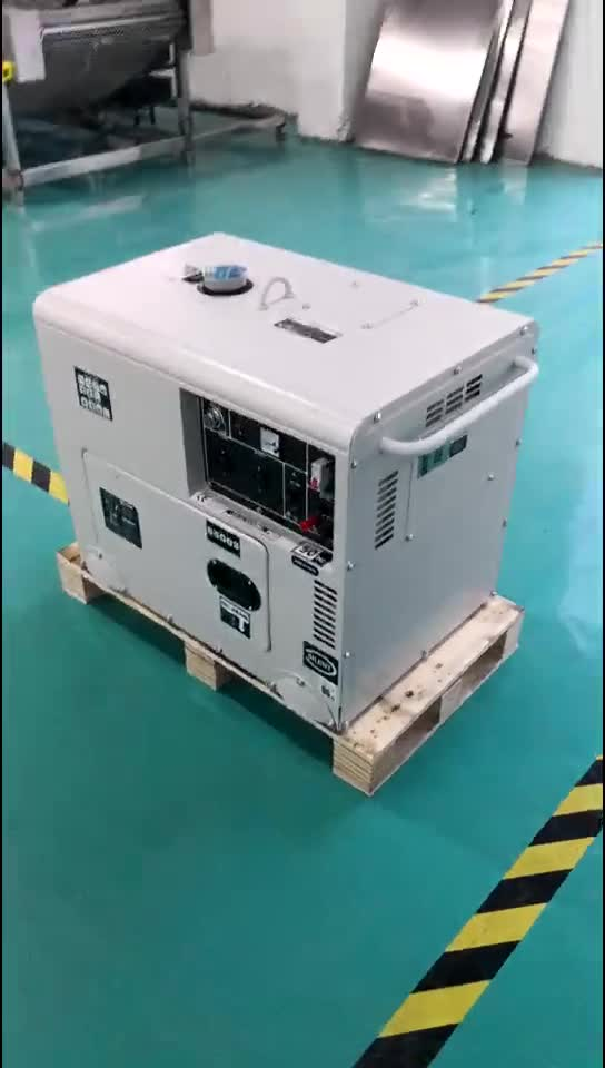 6kw 6kva air cooled soundless portable electric diesel power generator