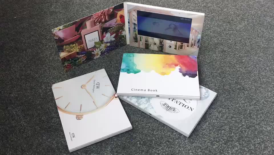 2020 발렌타인 브로셔 비디오 카드 결혼식 HD LCD 스크린 광고 빈 마케팅 디지털 인사말 비디오 카드