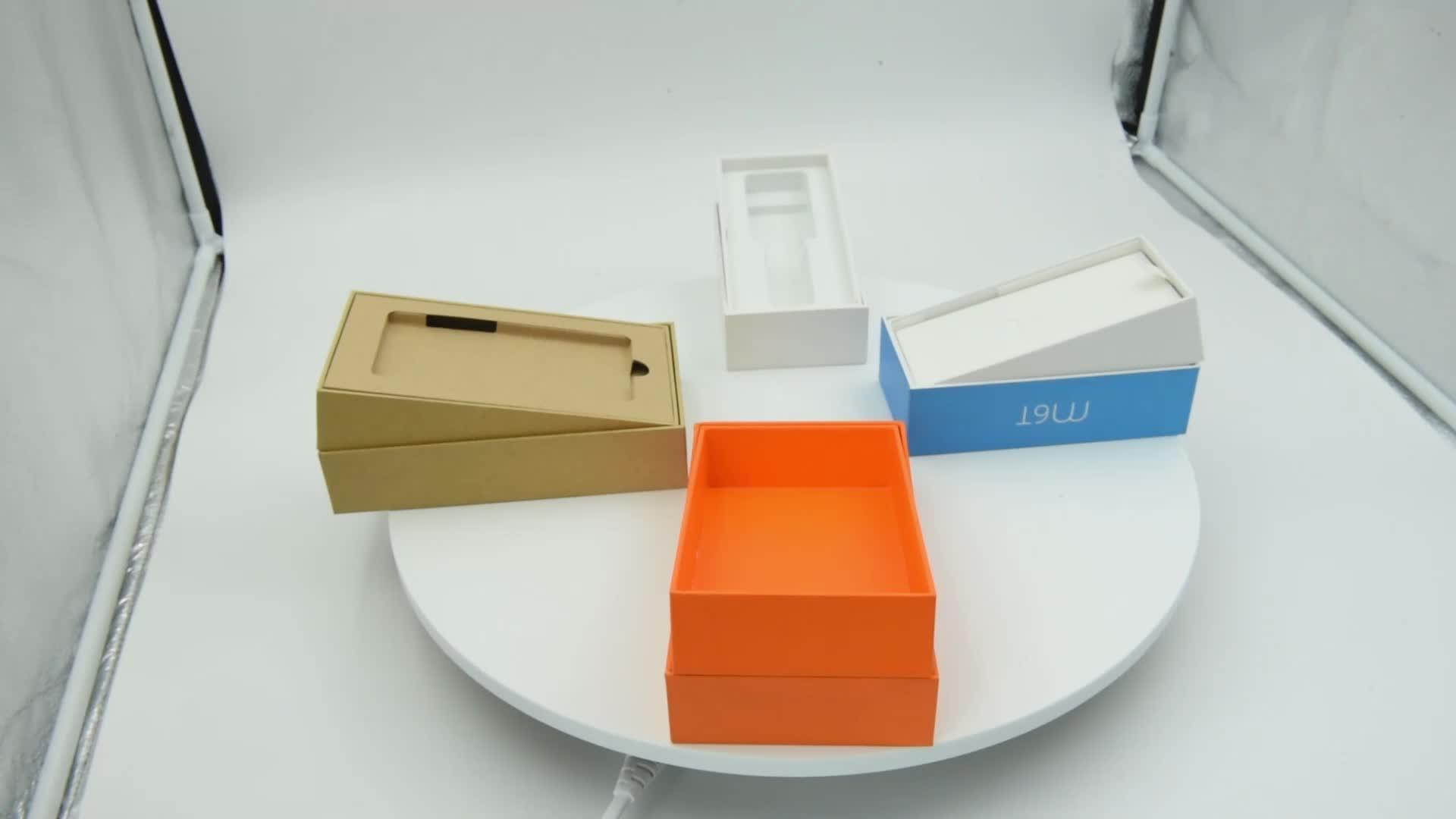 custom eco friendly mobile phone packaging kraft phone box