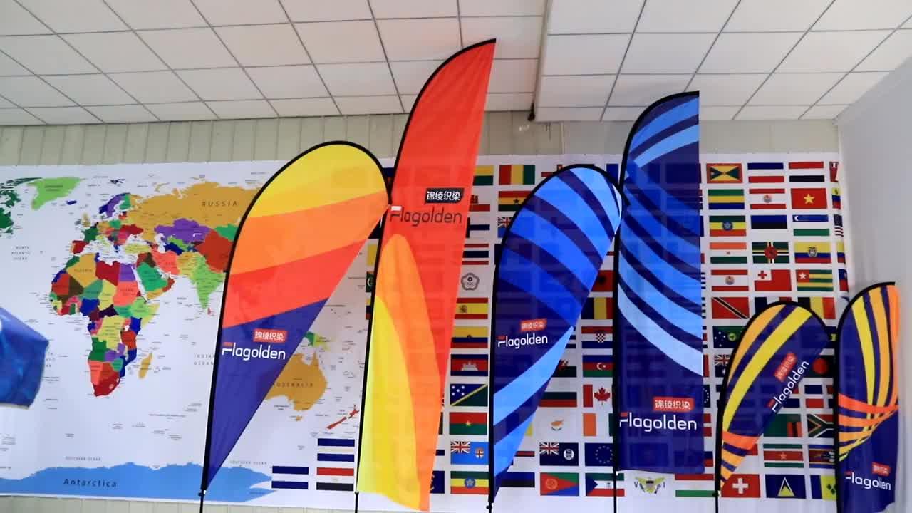 2019 популярный стиль флаг на заказ полиэстер наружный опт перо каплевидный рекламный обычный пляжный флаг баннер с полюсом