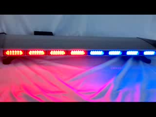 E-MARK 12V red blue police LED warning lightbar