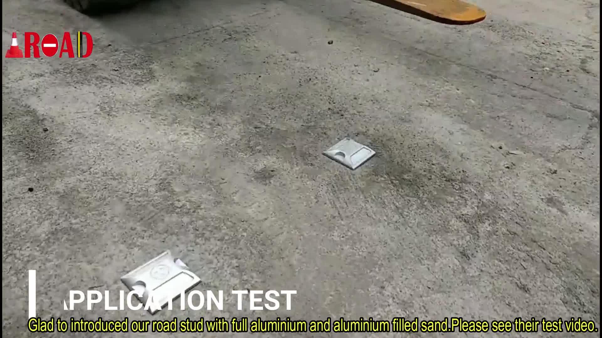 2 refletores de lado 100 * 100 * 60mm venda de fábrica de alumínio da estrada stud