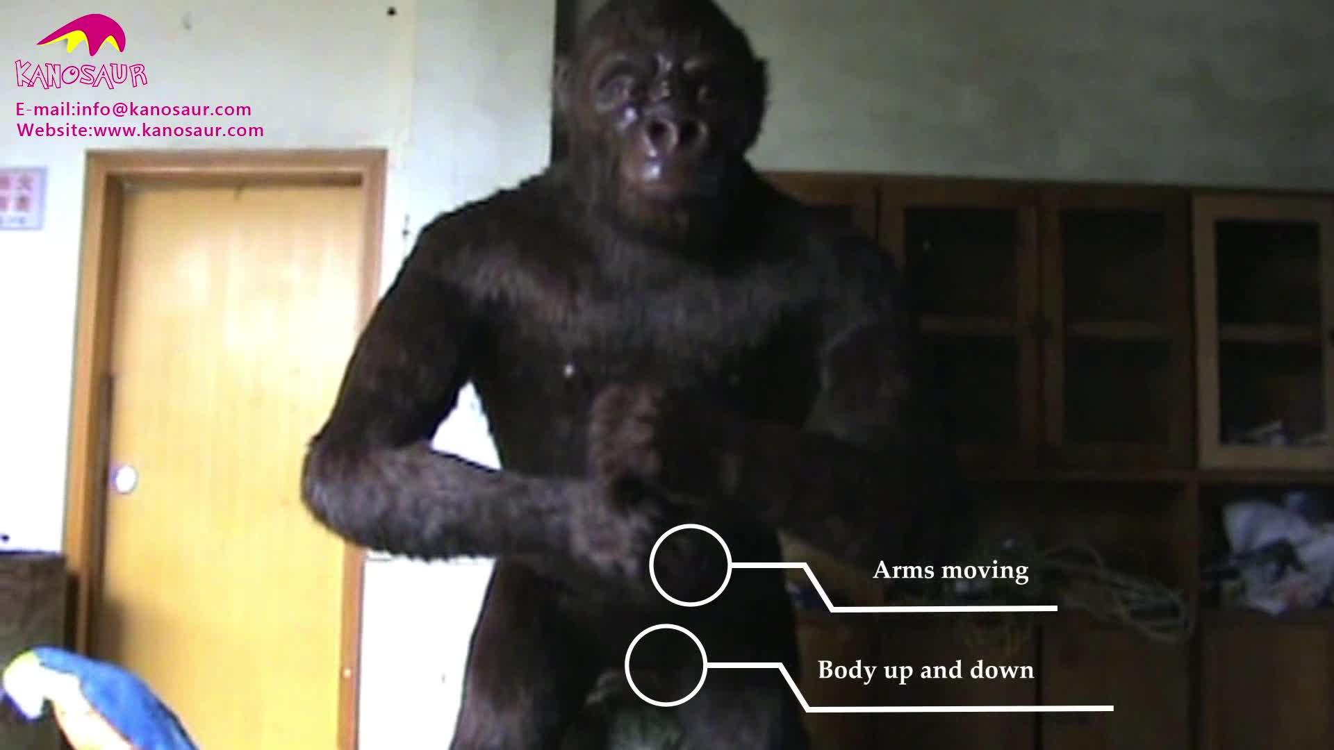 KANOSAUR0568ที่น่าตื่นตาตื่นใจจริงเทียมAnimatronicชีวิตขนาดKing Kong