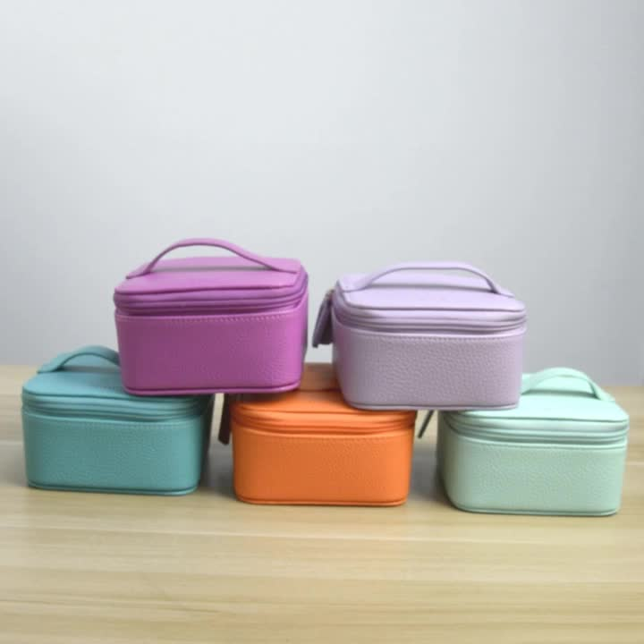 2020 wholesale price fashion more colors high quality Litchi pattern women cosmetic bag