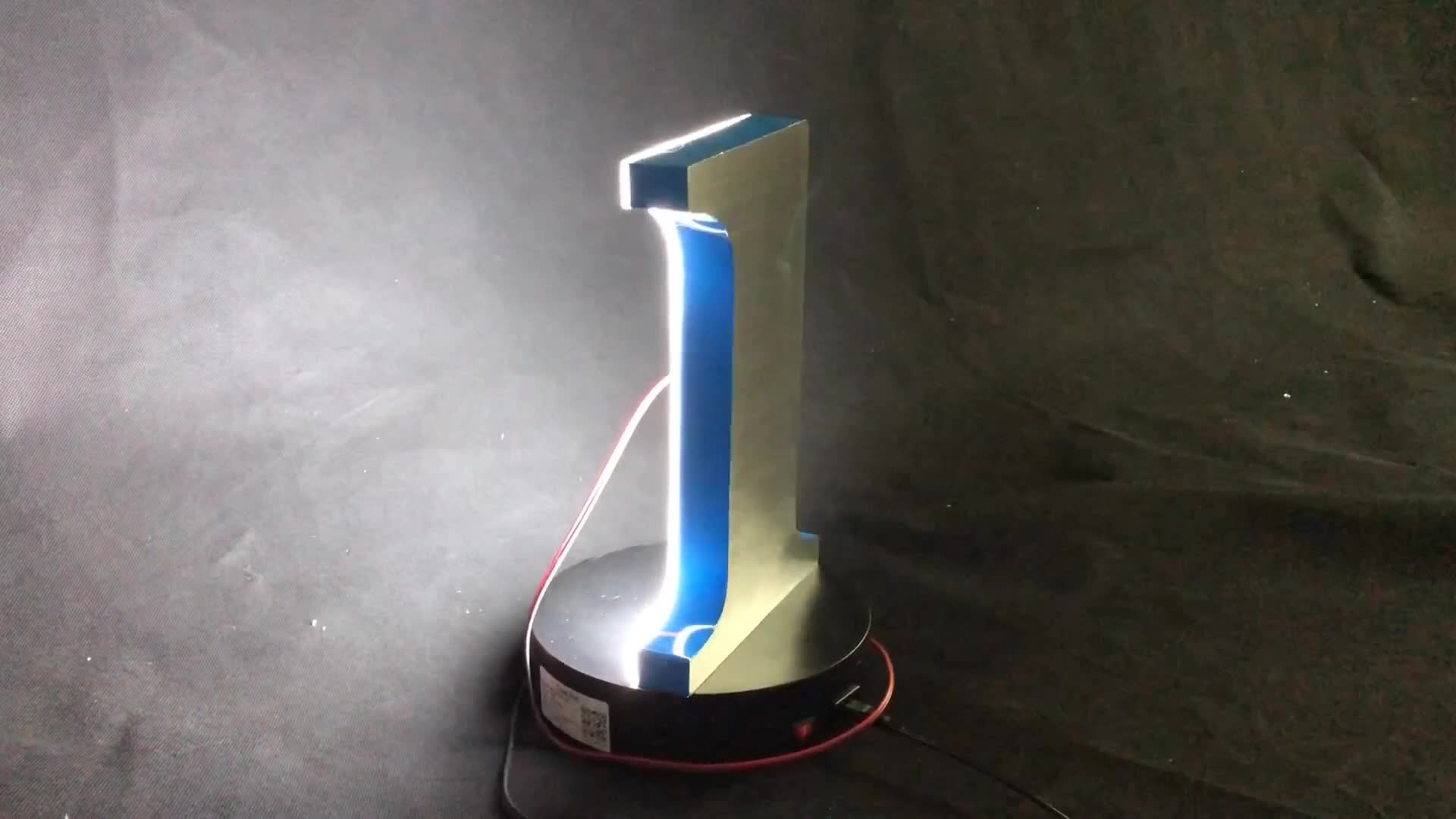 China Fábrica carta backlit iluminado sinais de negócios superfície anunciar led strip letras do alfabeto do metal