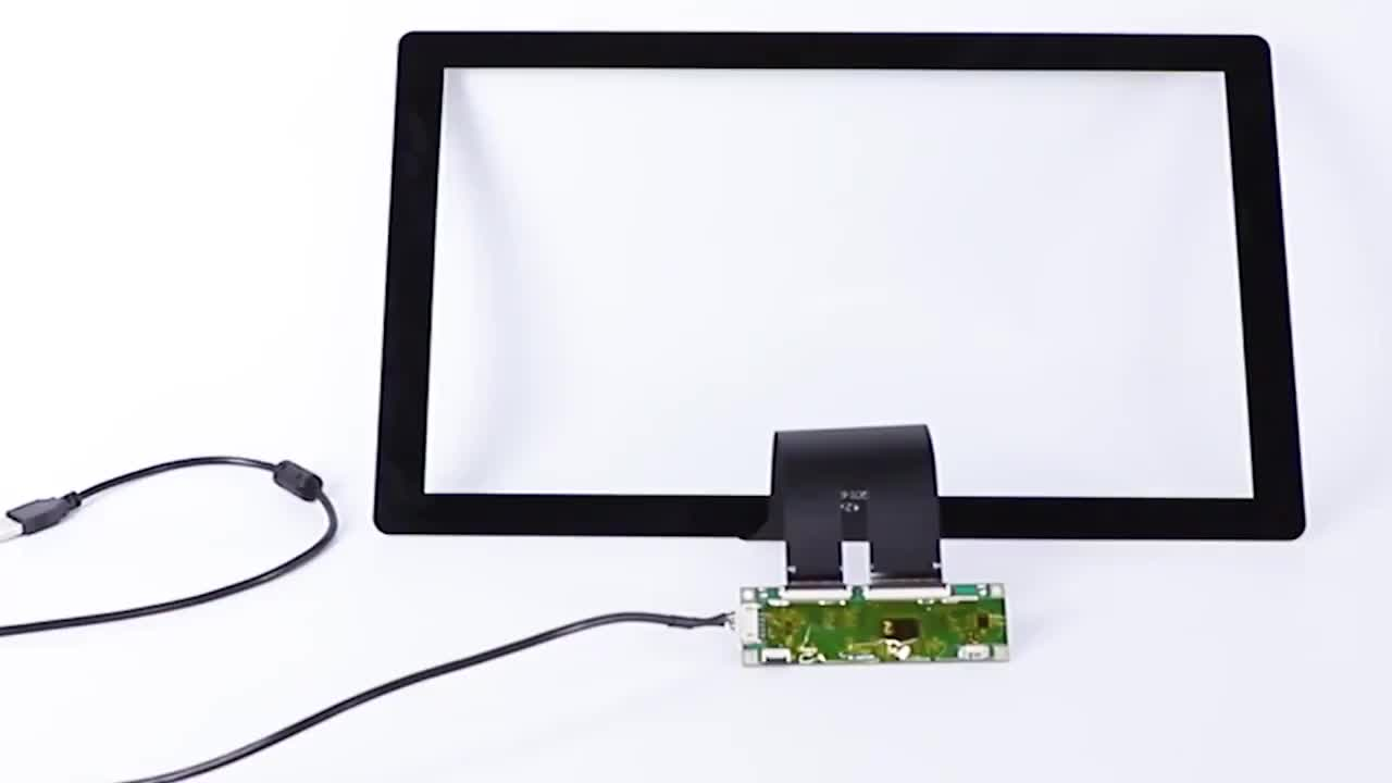 17 inch touchscreen manufacturer Glass+Glass I2C interface USB cable ILITEK for Raspberry PI