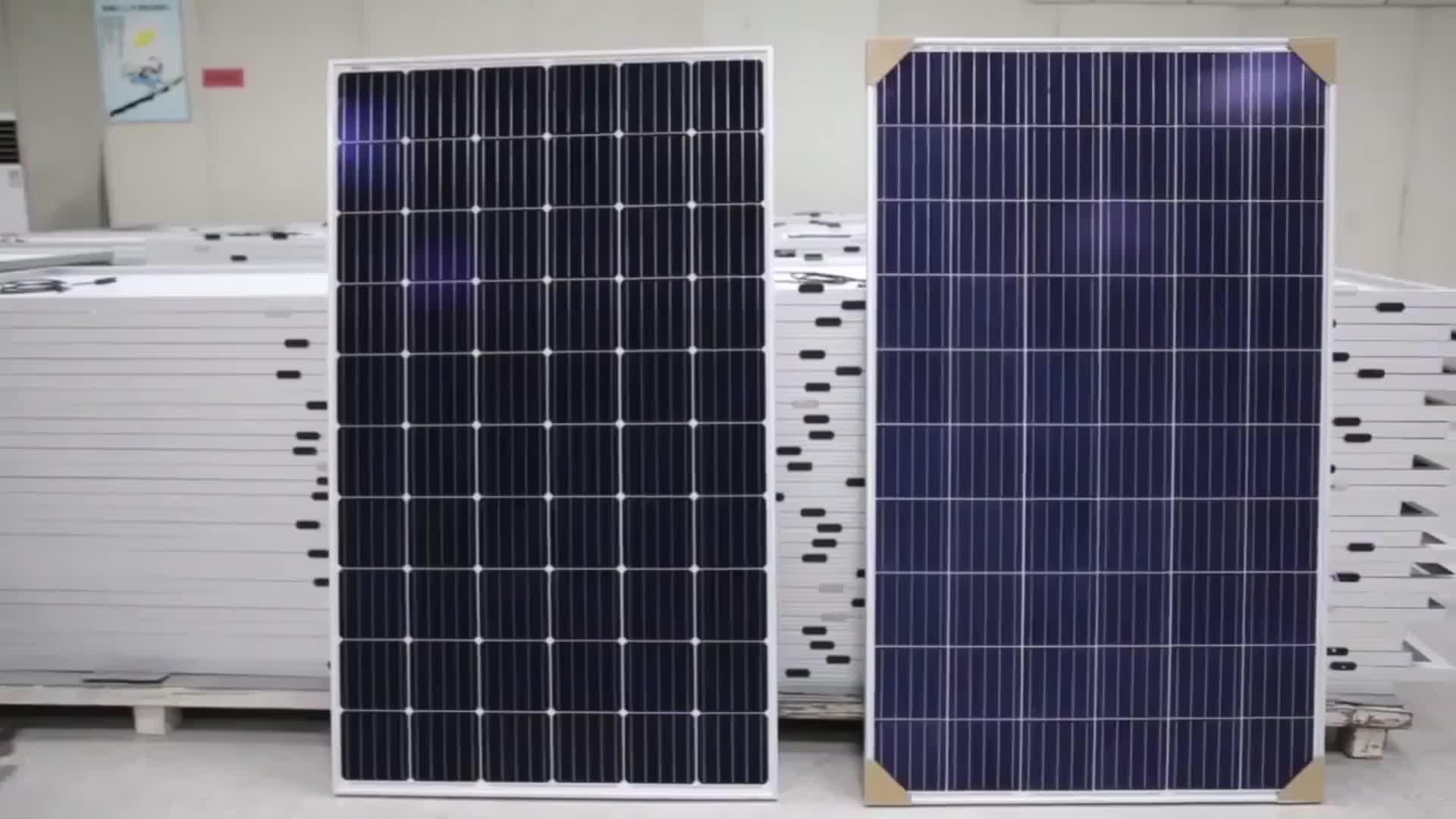 रोजेन 350 w सौर पैनलों 5BB पीवी मॉड्यूल 350 वाट पाली सौर पैनल कीमत