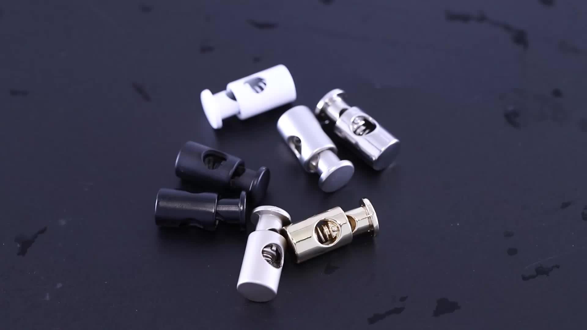 Palanca de cerraduras estilo de cerradura final tapones personalizado simple y doble agujero deporte aleación de Metal de Zinc níquel-libre