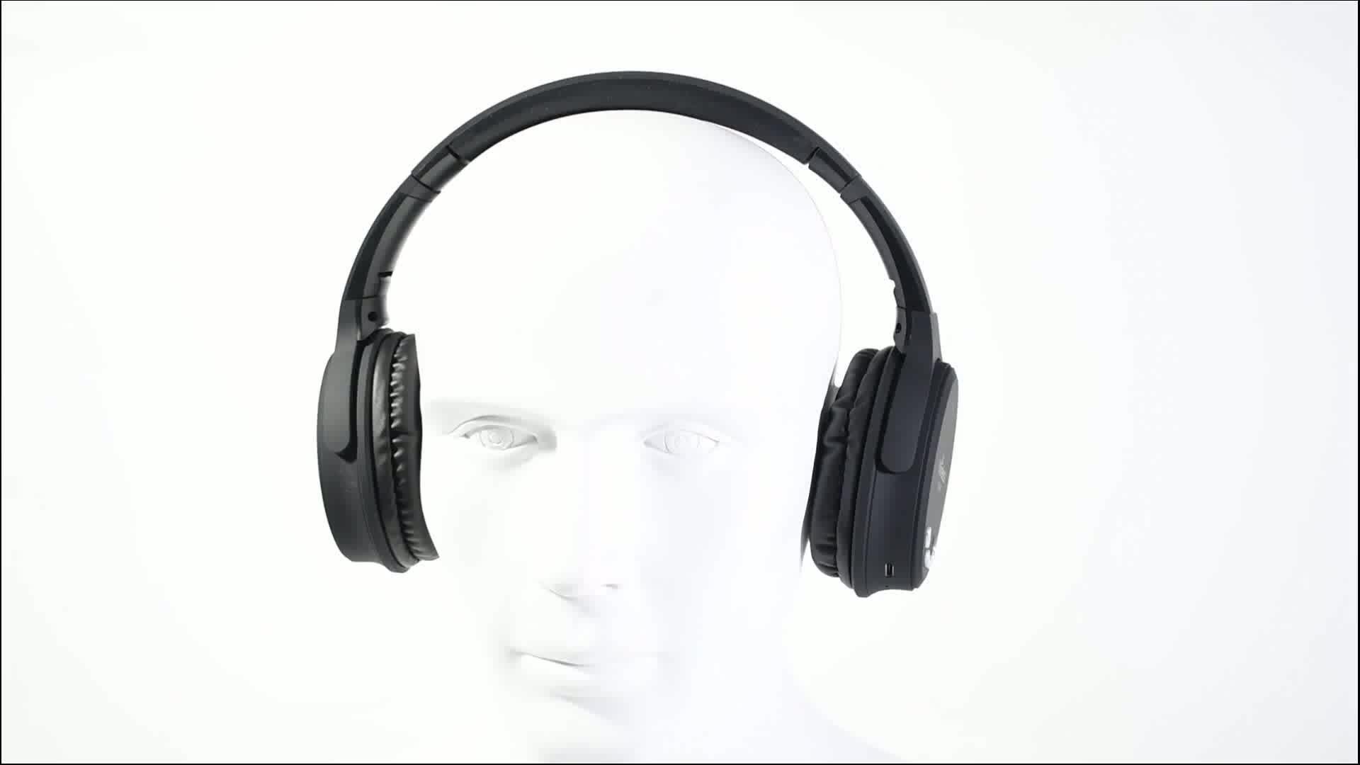 Feinier LBS-50 शोर अलगाव से अधिक-कान हेडबैंड वायरलेस हेड फोन्स, TF है और एफएम के साथ स्टीरियो हेडसेट हाथों से नि: शुल्क