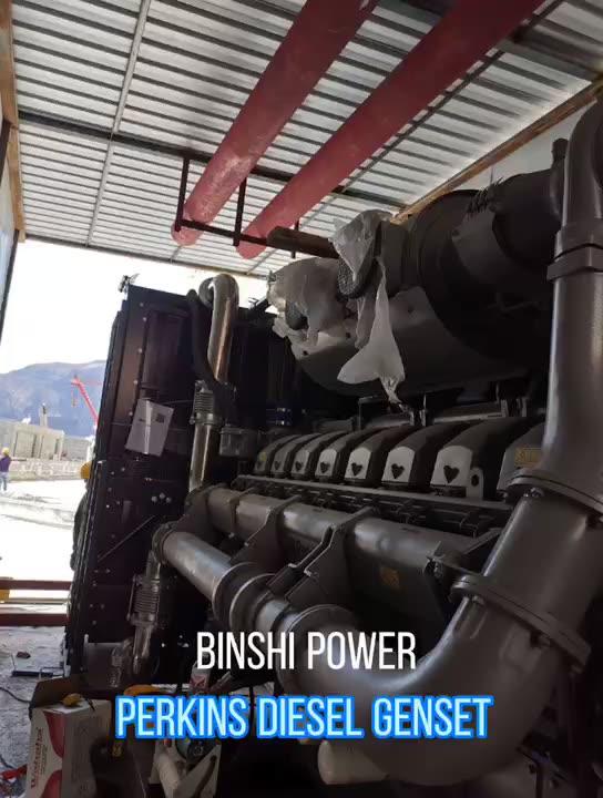 50ZH 60HZ 1800RPM depo projesi contianerized dieesl endüstriyel jeneratör