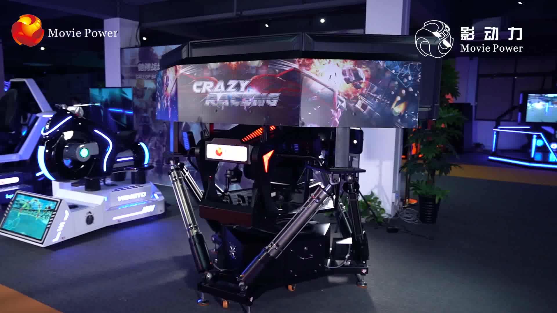 Realidade Virtual 9D 3 VR Racing Game Machine Tela Best Selling Simulador de Condução