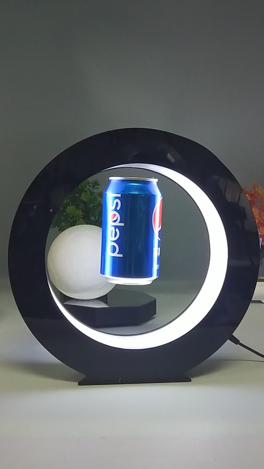 新デザイン磁気浮上ボトルと表示することができ & アクリル led 浮上ボトルディスプレイ
