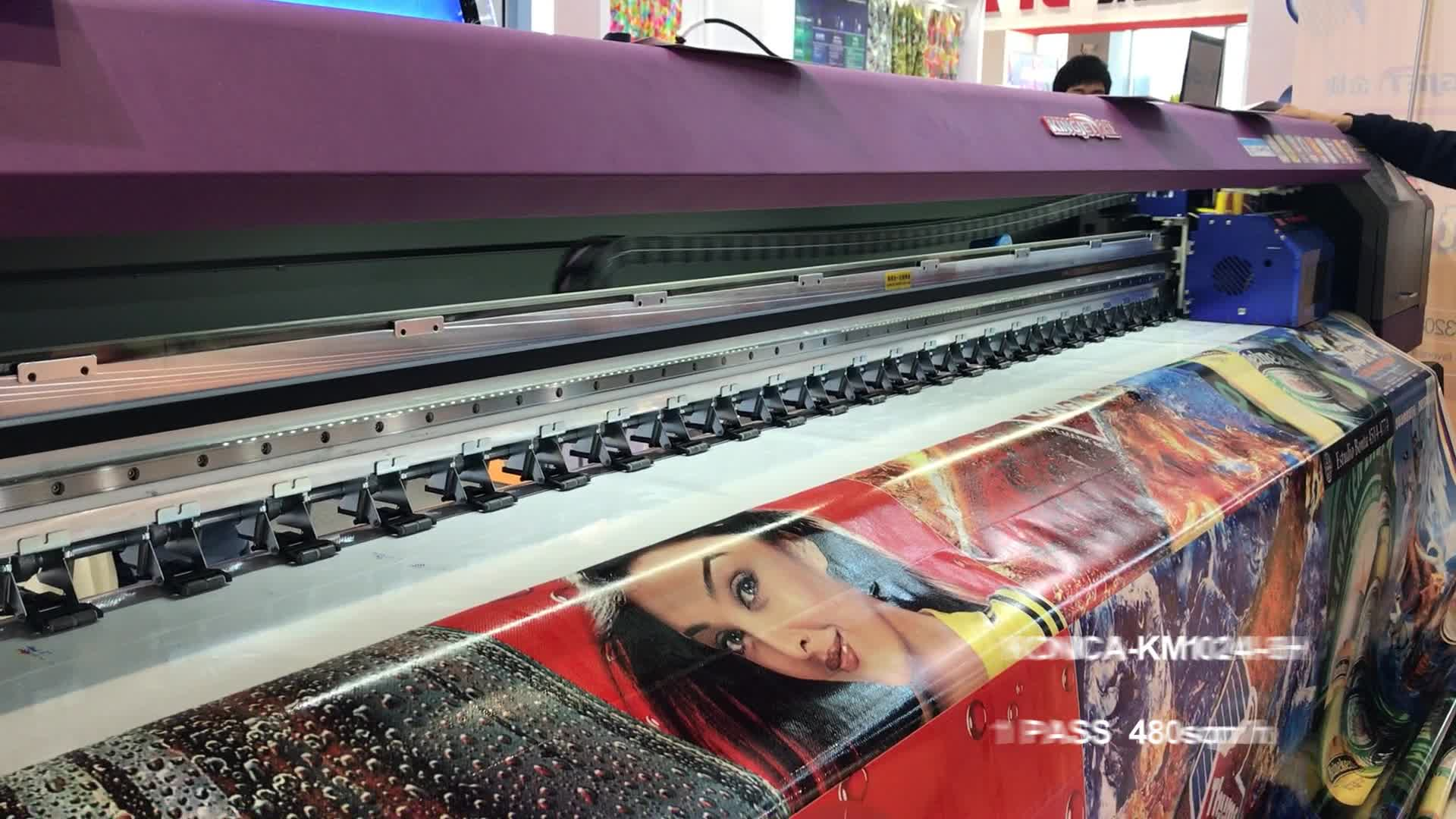 KingJet 3,2 mt ganzen verkauf farbe poster kunststoffabdeckung teppich tuch flachs digital leder druckmaschine