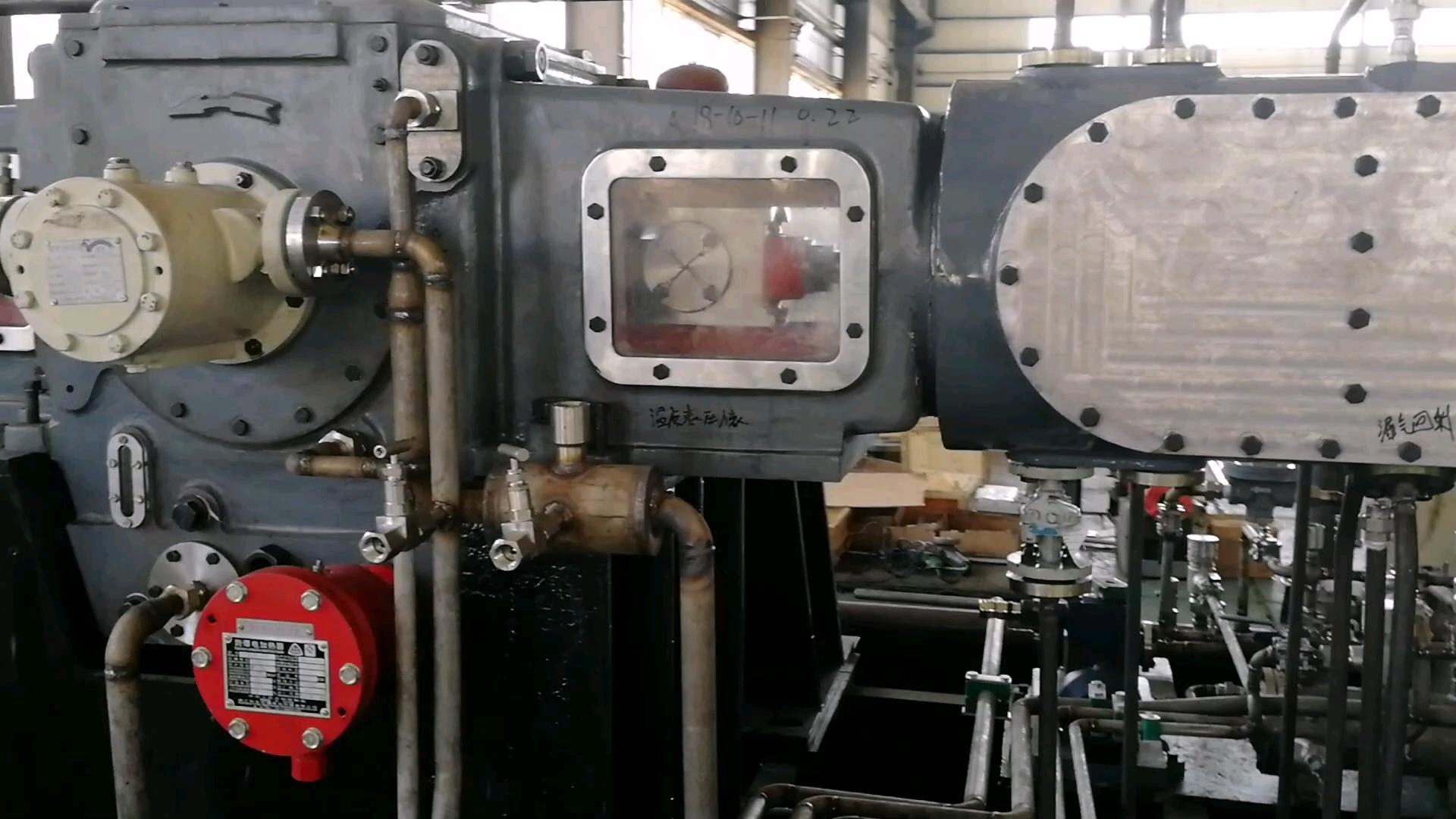 6bar 吐出圧 75KW 10m3/分往復ピストン天然ガスコンプレッサー