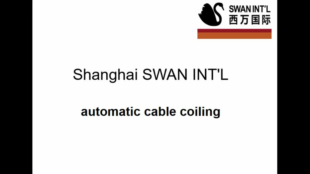 1246 automatic cable coiling wire winder machine j racking with active pay off