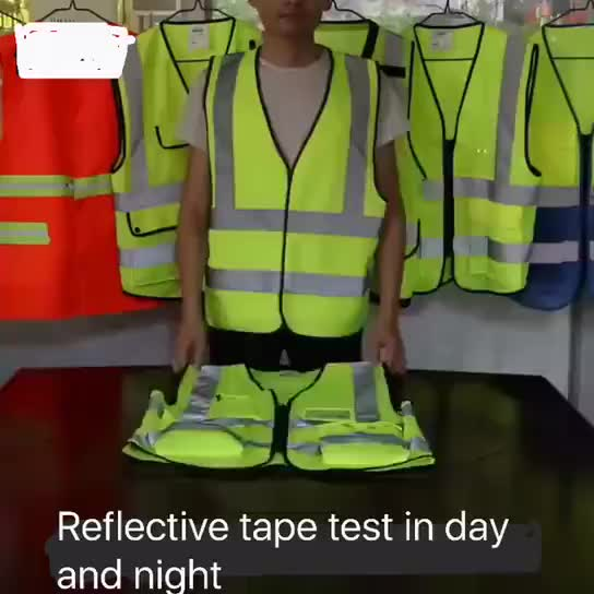 Reflective Safety T Shirt For Man Airport Traffic Roadway Security Safety Shirts With Short Sleeves Guard Work Wear
