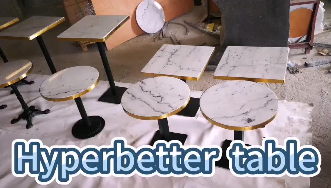 Luxury restaurant Italian arabescato marble dining table