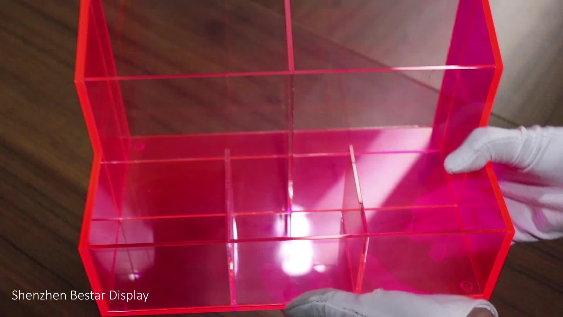 Tùy chỉnh Perspex Plexiglass Plexi PMMA Lucite Huỳnh Quang Orange Acrylic Giữ Điện Thoại Di Động