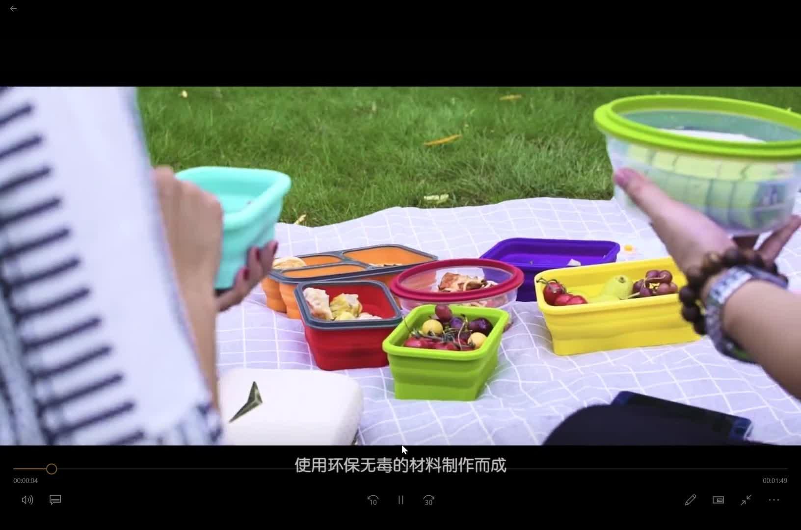 4 pezzi Set Rettangolo Personalizzata Eco-Friendly Casa Pieghevole Vano Tiffin In Silicone Scatola di Pranzo di Bento Contenitore di Conservazione Degli Alimenti