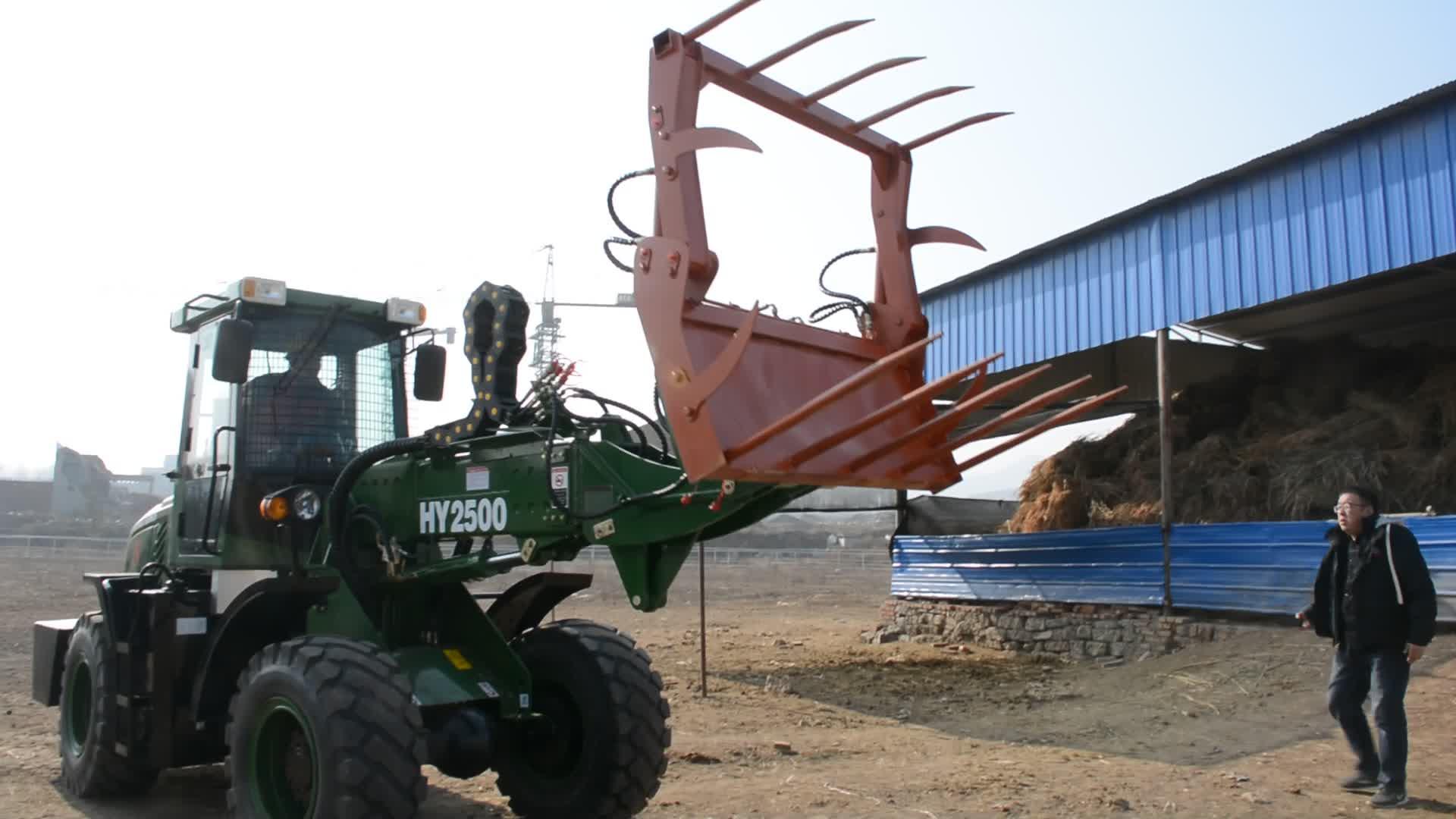 Telescopic Loader TL1500 Tipe Bergerak Traktor Pertanian Cina