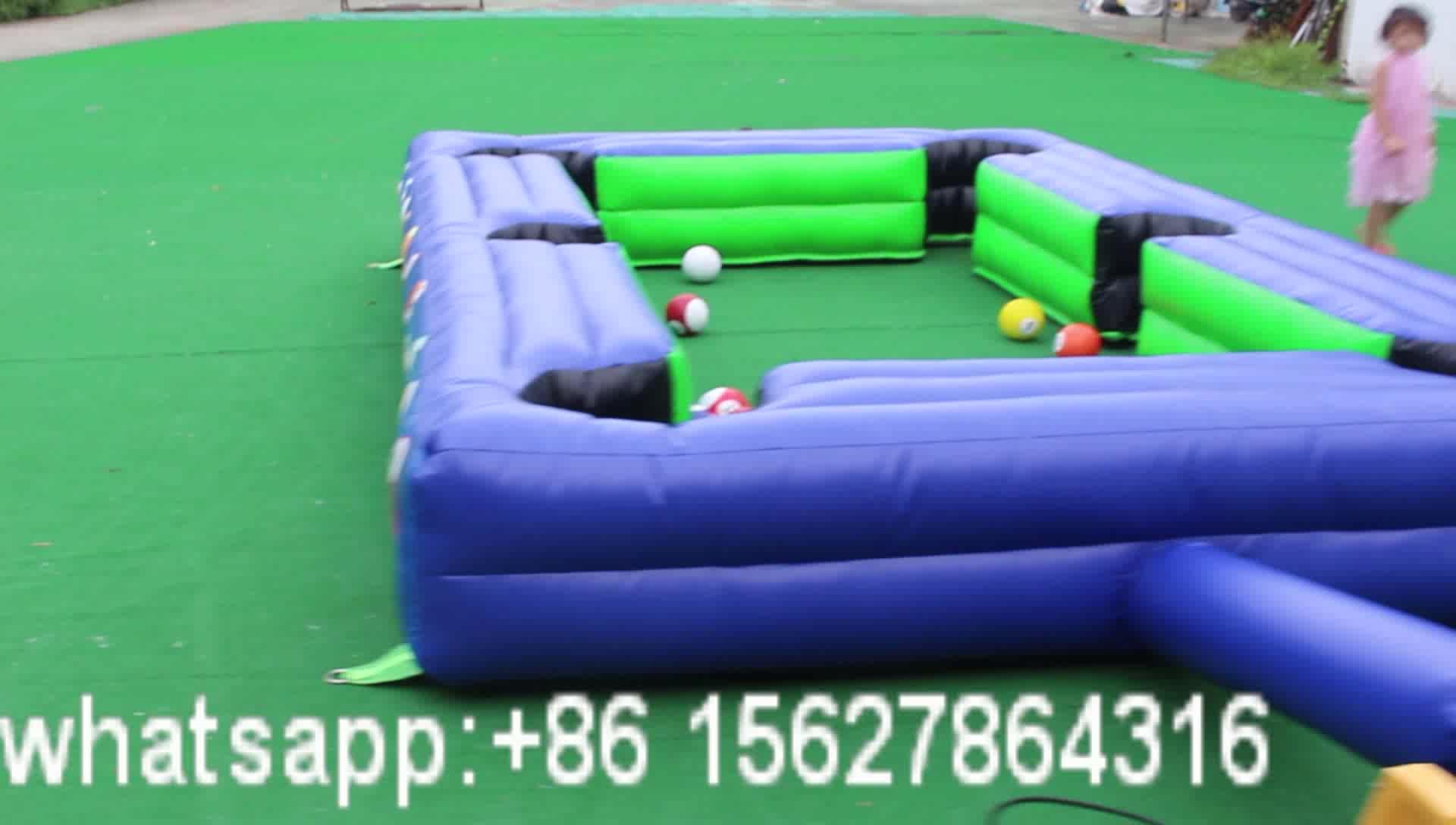 ที่น่าสนใจพองลูกลูกสนุ๊กเกอร์เกมสนามเด็กเล่นฟุตบอลโต๊ะพูลพองลูกบิลเลียด