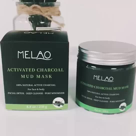 Activated Charcoal Mud Mask 8.8 fl oz. - For Deep Cleansing & Exfoliation, Pore Minimizer & Reduces Wrinkles, Acne Scars