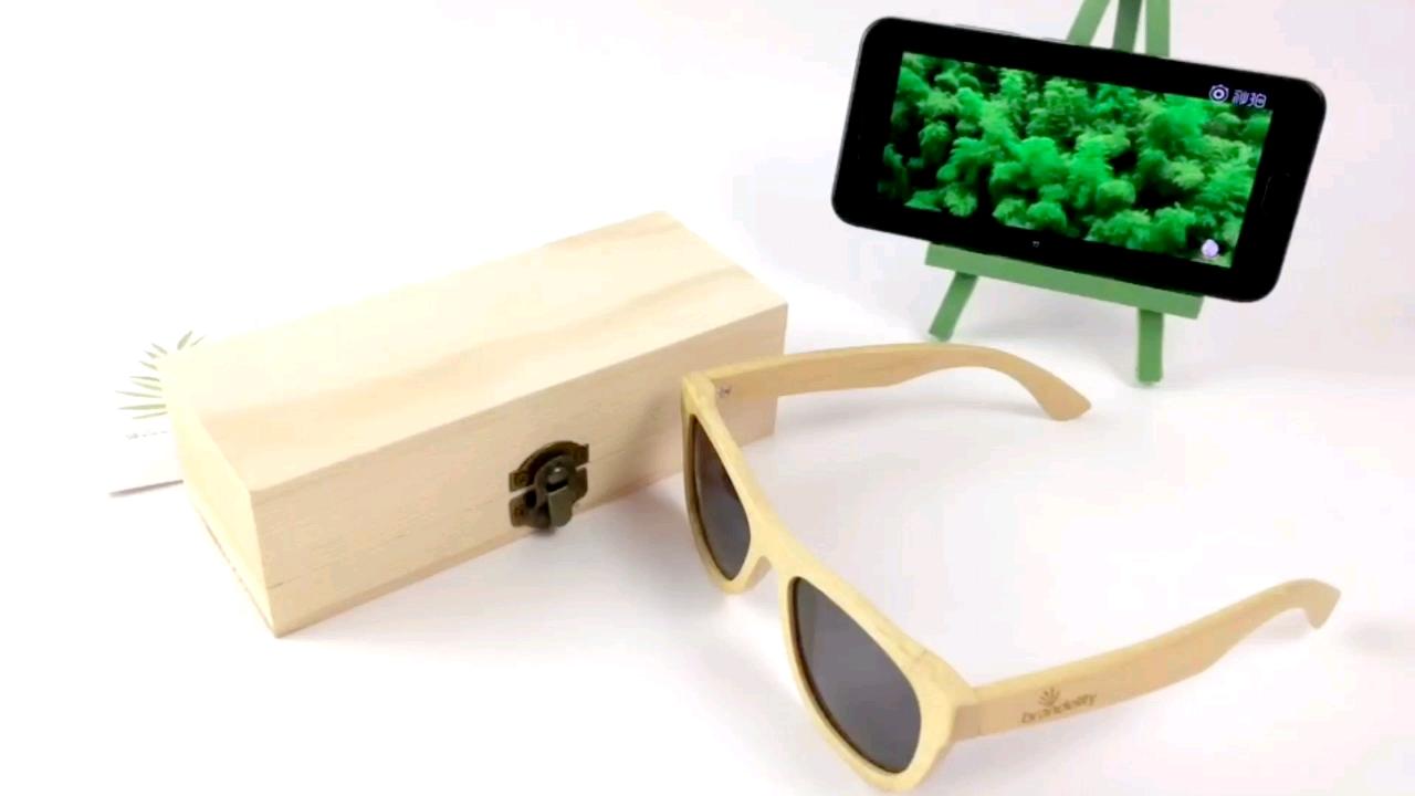 Vintage Wood Sunglasses Men Women UV400 Driver Sport Original Bamboo Sunglasses 2020