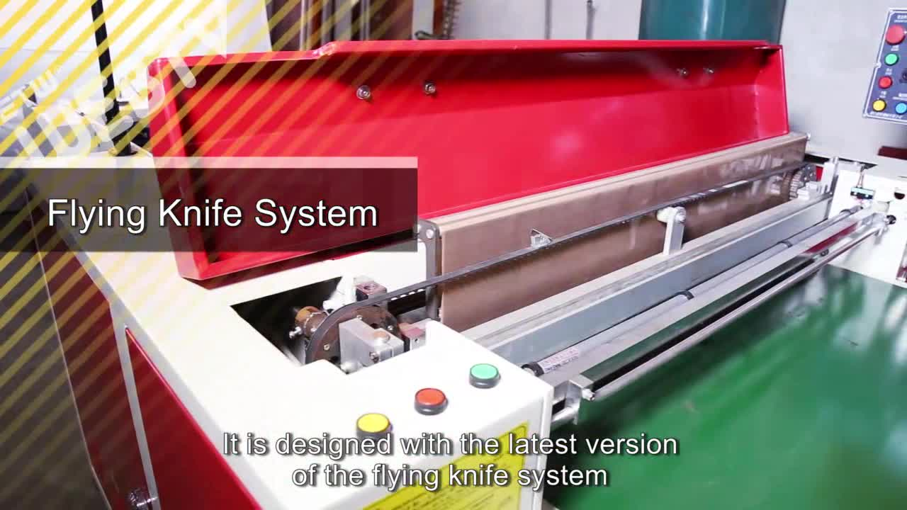 ポリエチレンldpe素材原料厚さジャイアントボトムシール袋製造機によるフライングナイフシステム