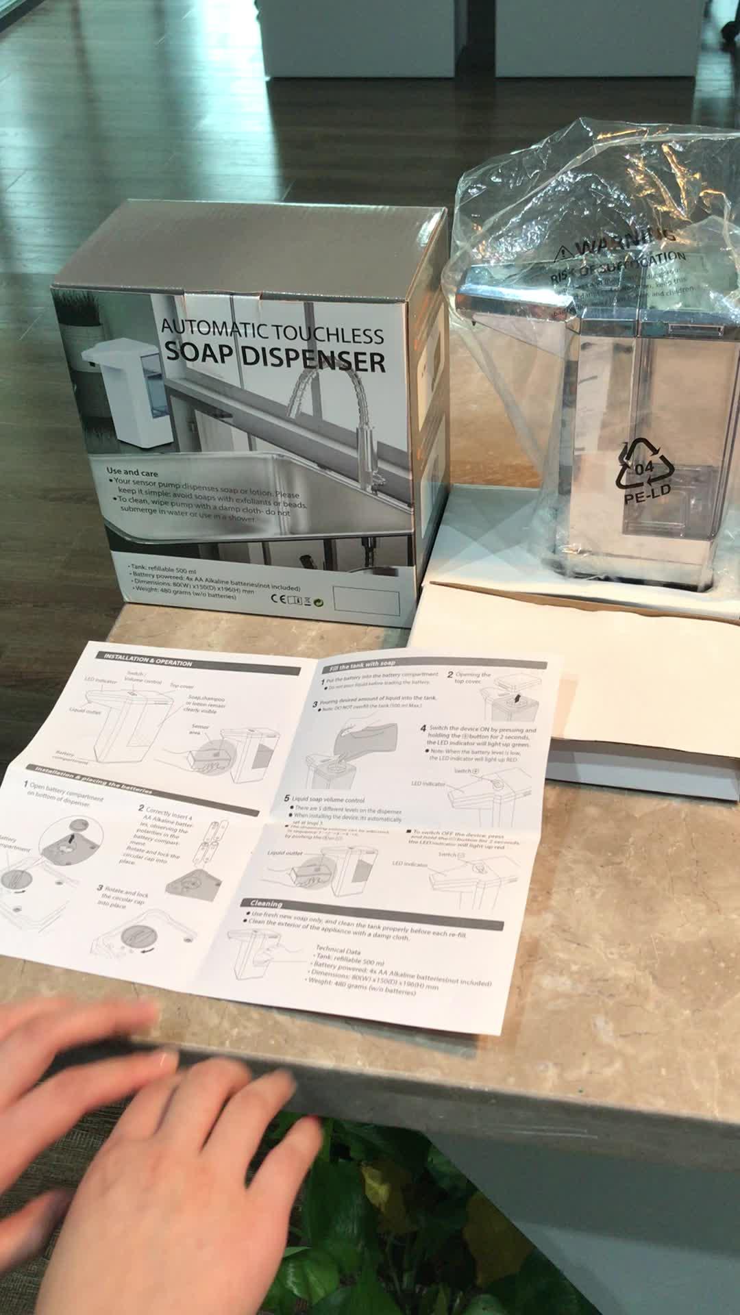 Plastic electronic waterproof kitchen sink soap dispenser