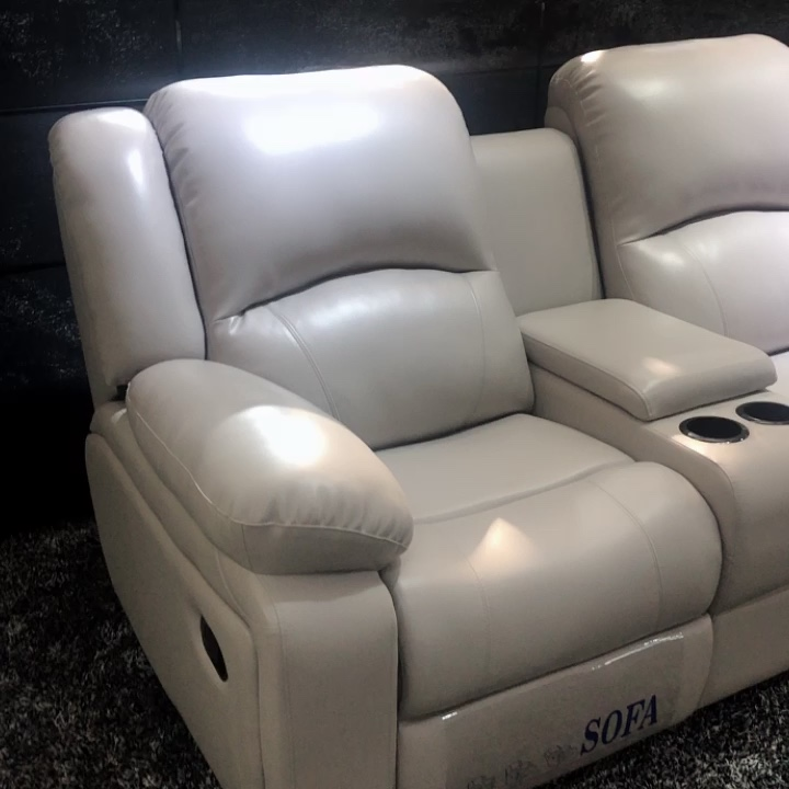Online shop hot selling living room furniture sofa set house use leather sofa reclining loveseat