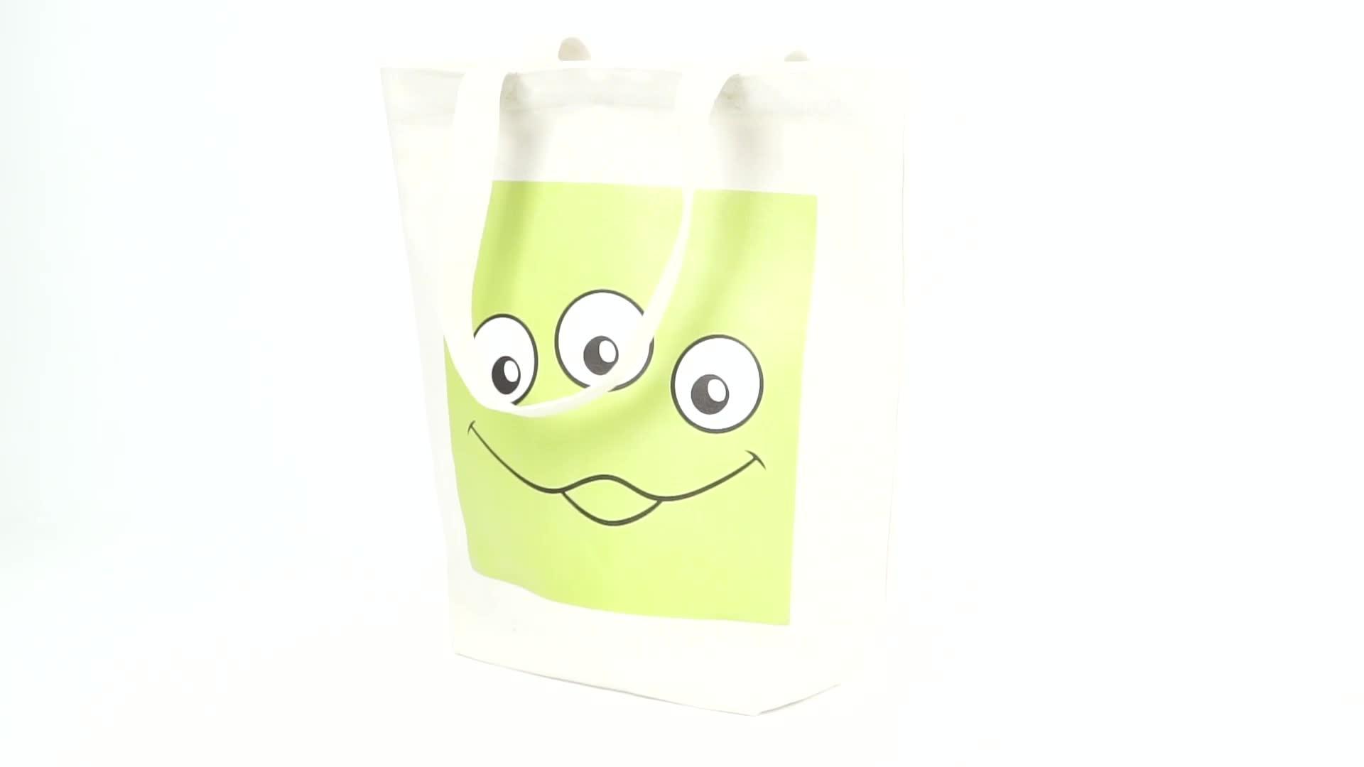 Coreano tote bag Eco-Friendly shopping bag personalizzata laminato pp sacchetto tessuto