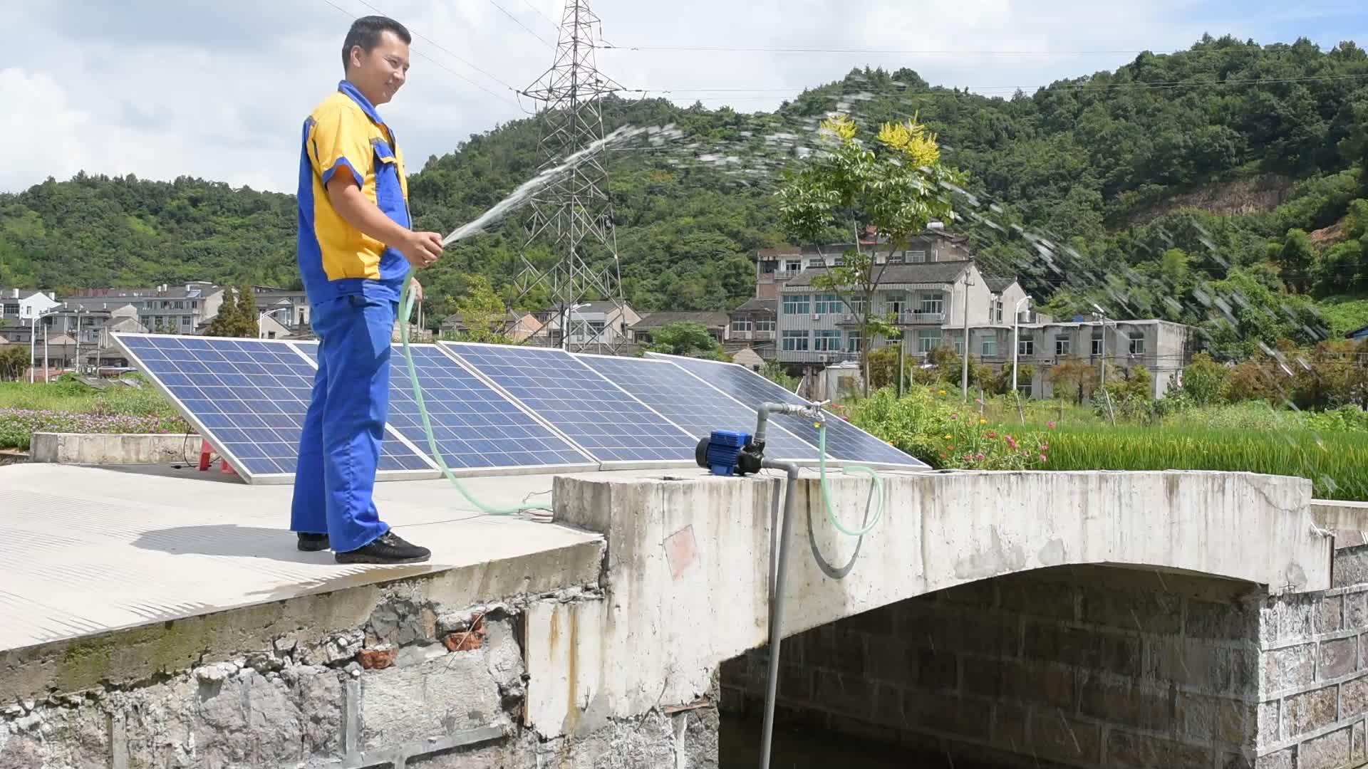 Larens 24 โวลต์ QB series พลังงานแสงอาทิตย์ dc พื้นผิว booster pump - สร้าง controller