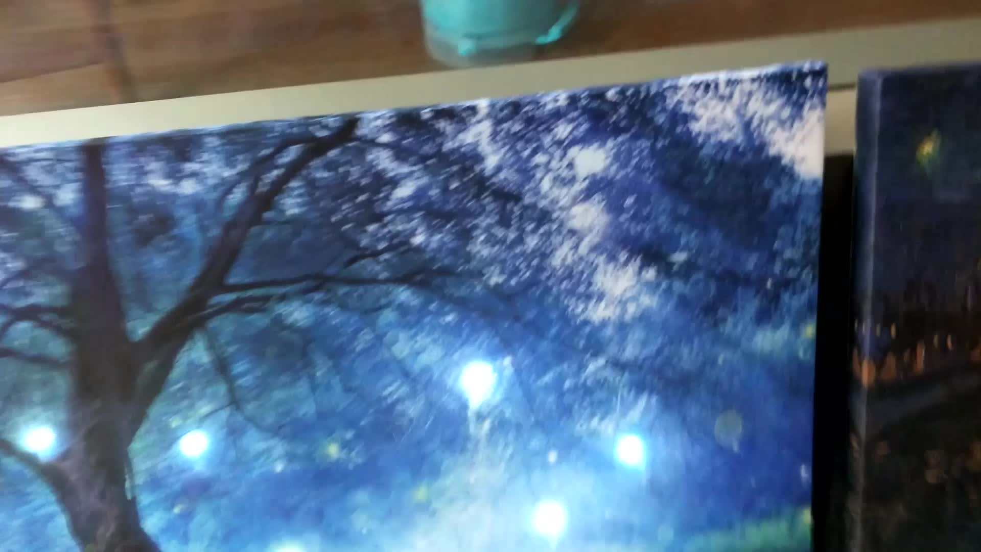 Size Customization Large  Led Light Up Paintings Wall Art With Battery Operated