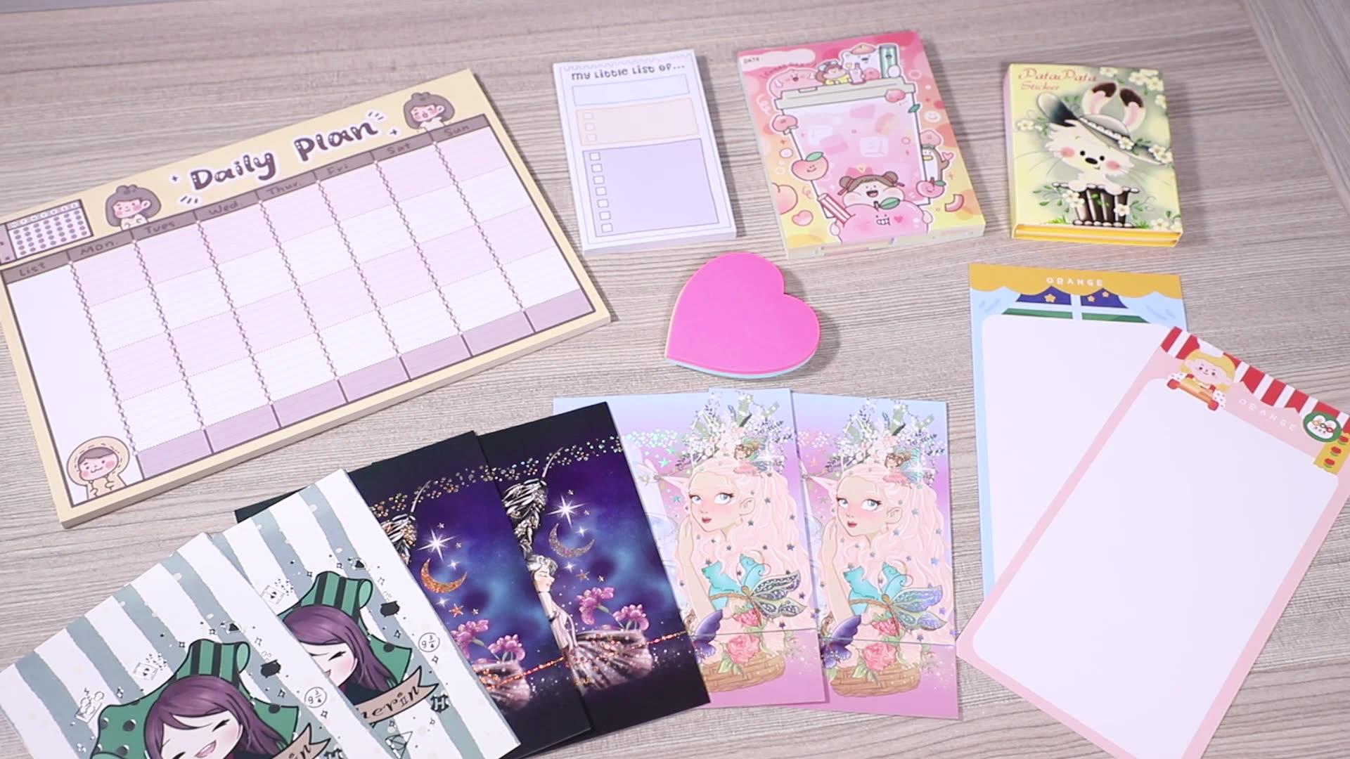 Benutzerdefinierte mini notebooks aufkleber notizblock memo pad schule versorgung kawaii