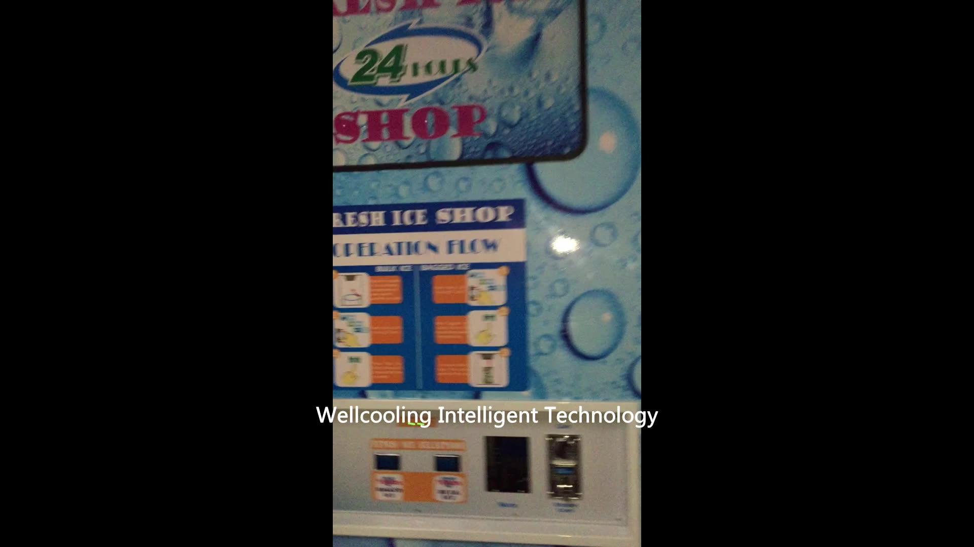 Automatischer Eis-und Wasser automat arbeitet mit Münz-IC-Karte und Hinweis