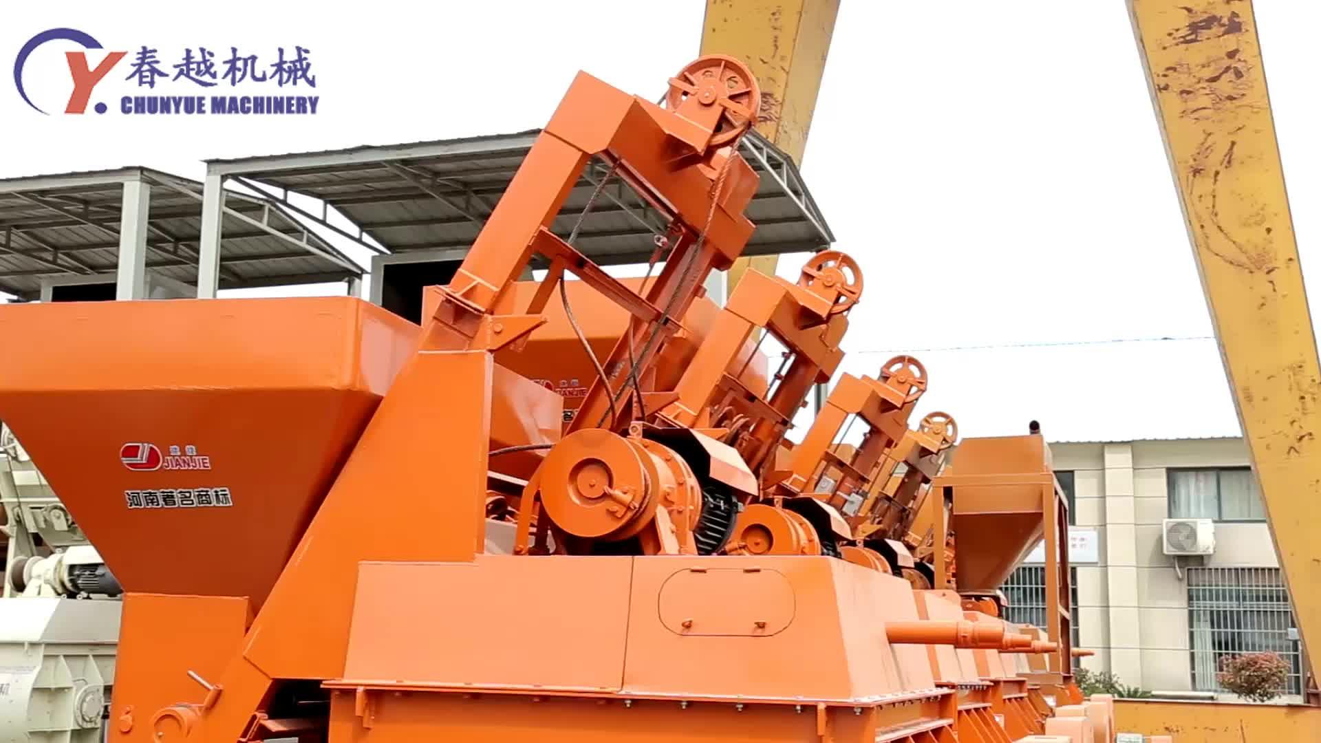 Fabriek leverancier draagbare elba harga mini 35m3/h HZS35 beton mengen groeperen plant