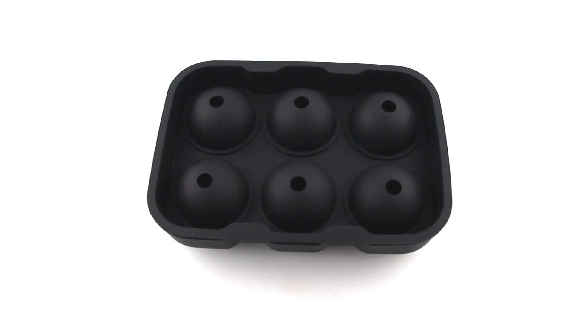 New Kitchen Accessories 6-cavity Silicone Ice Ball Maker Mold