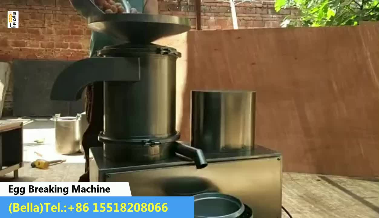 Egg shell Cracker with Breaking Egg Machine