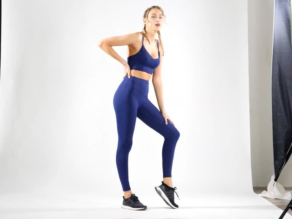 Señoras sexy medias de yoga, pantalones de ropa deportiva de cintura alta de la yoga polainas fitness ropa deportiva de las mujeres