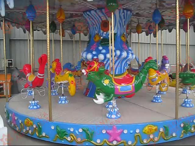 12/16 Seats indoor old amusement park rides carnival games carousel horse sale