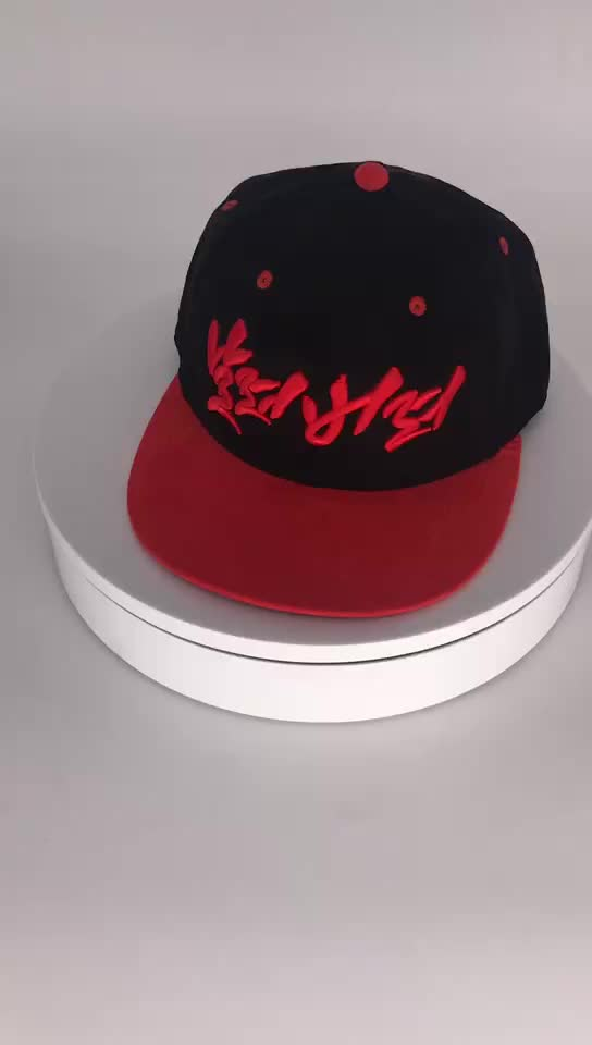 black wool suede snapback quality snapback men with 3D logo