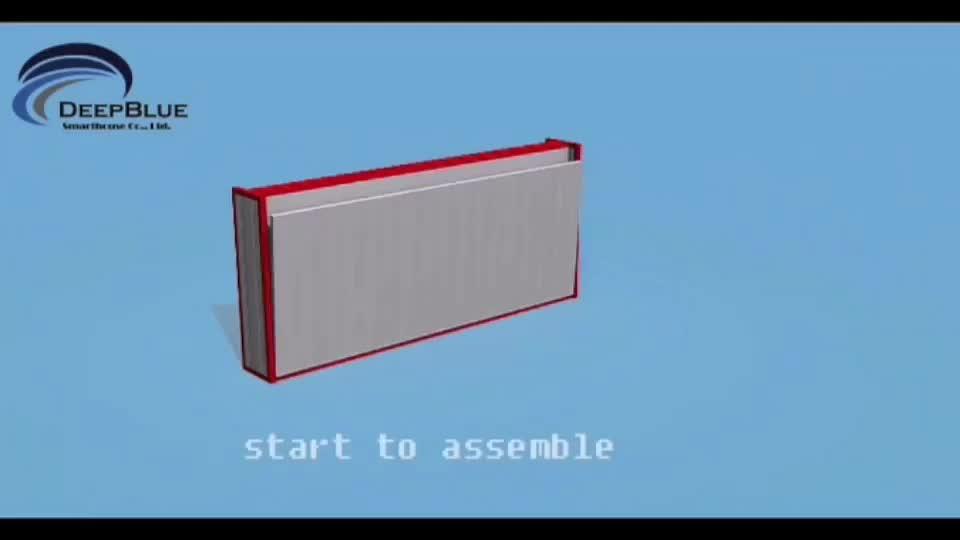 Deep blue Smarthouse pas cher EPS panneau sandwich portable plié préfabriqué conteneur maison rapide et facile à installer assembler