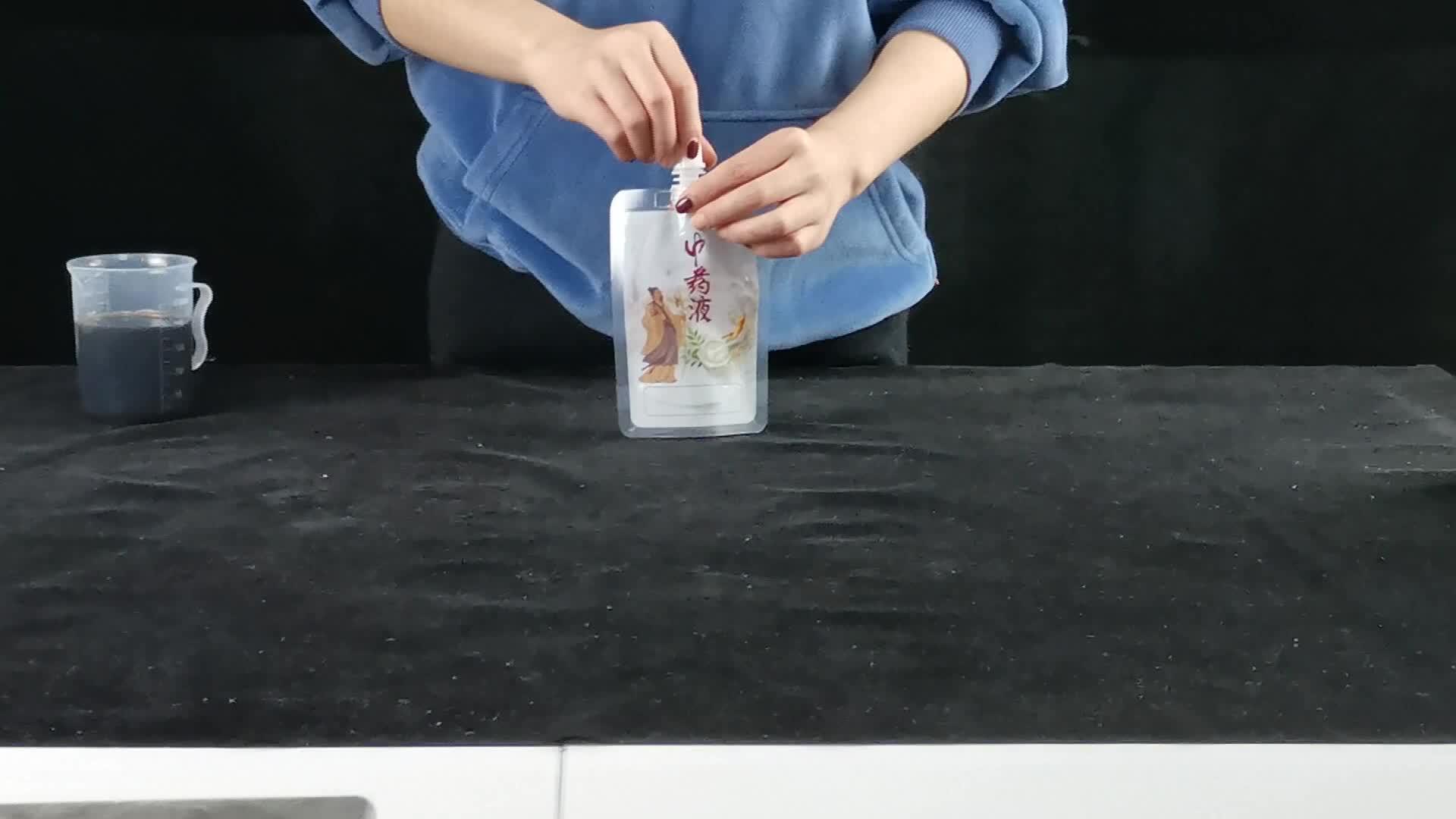 Жидкость встать носик мешок пластиковый питьевой воды мешок/многоразовые пиво упаковка носик мешок