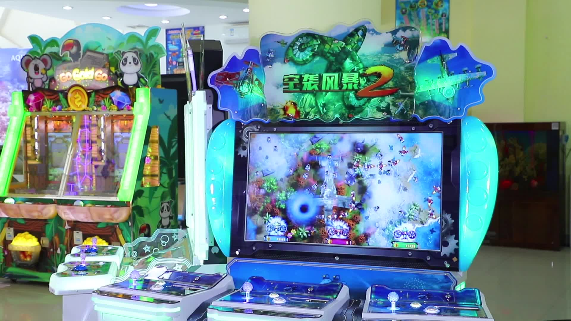 Air Shooting Coin Operated Cabinet Video Hot Selling Arcade Air Strike Fishing