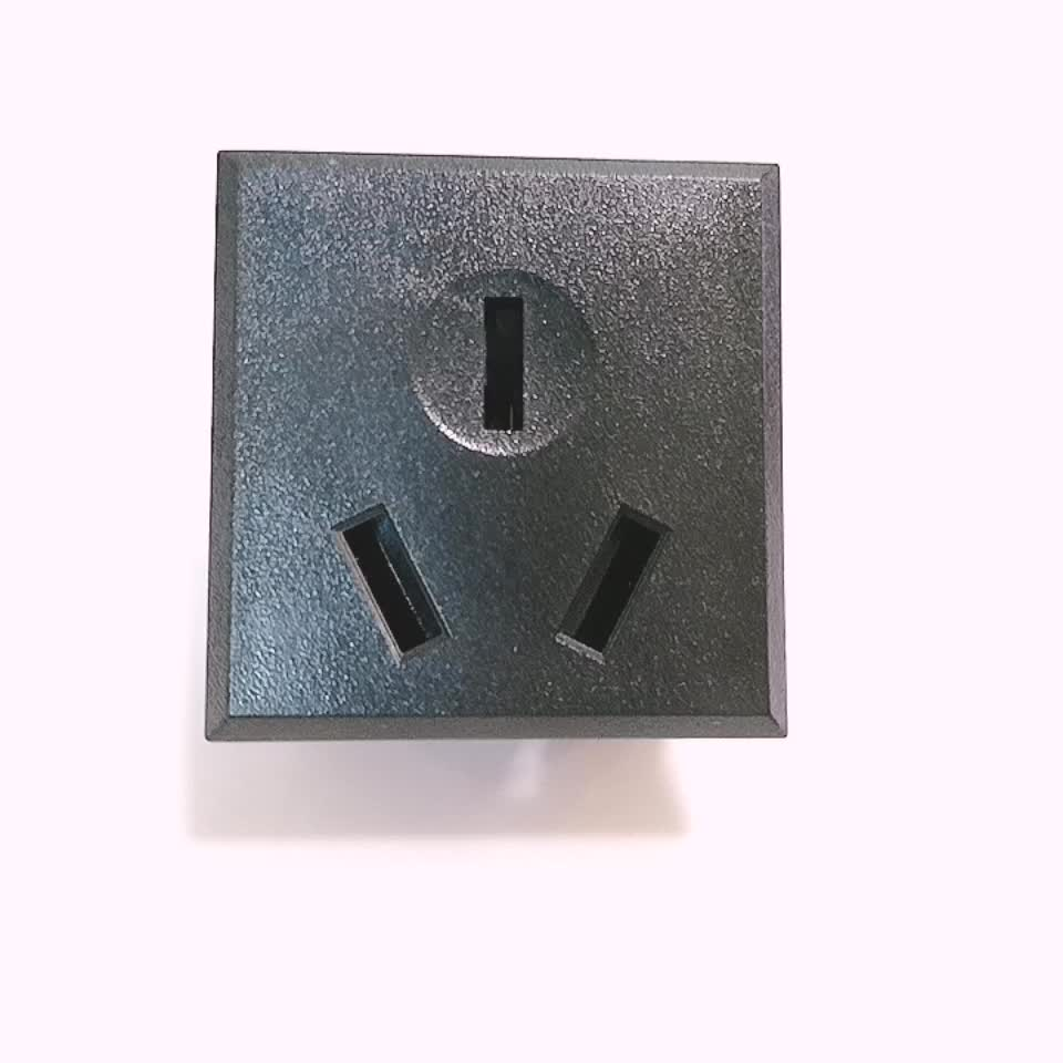 Cobre puro China material hembra 16A AC socket