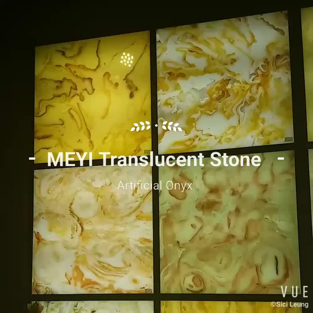 Doorschijnend Marmer Kunstmatige Onyx Gevelbekleding Uit China Decoratie Materialen Factory