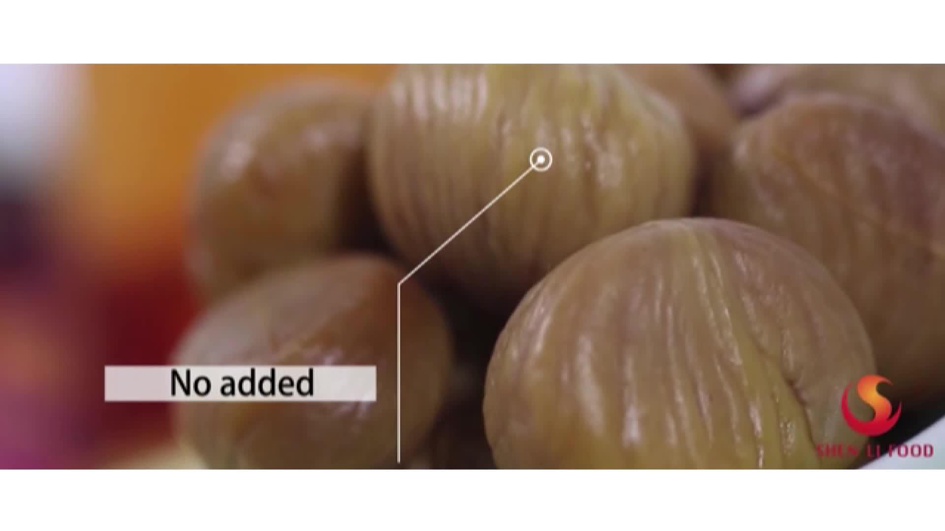 Grillées bio Châtaignes Pelées Des Collations snack bio alimentaire