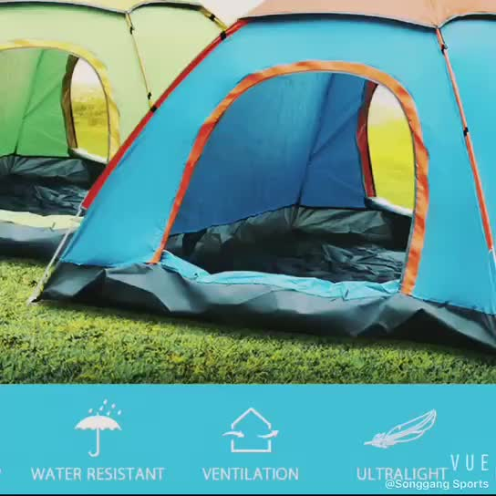 Outdoor Portable Single Layer Waterproof Automatic Camping Tent