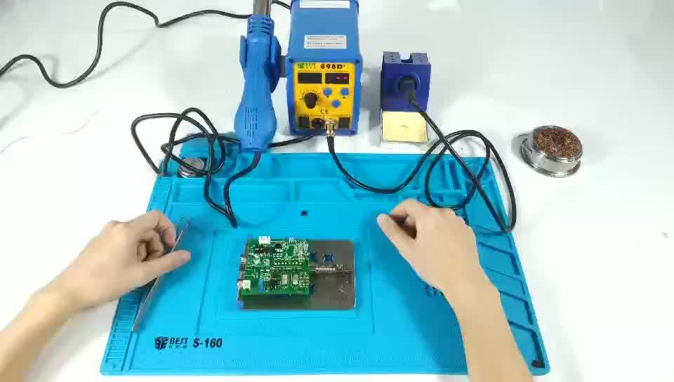 BEST-898d + Nieuwe Soldeer 2 in 1 LED Display Desolderen Hot Air SMD Rework Soldeerstation