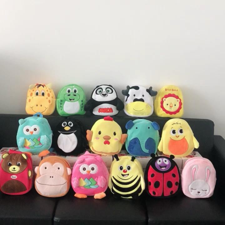 Venta caliente niños de dibujos animados de animales de peluche para las niñas y los niños